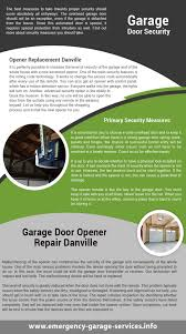 Overhead Garage Door Spring Replacement by Door Repair Danville Infographic
