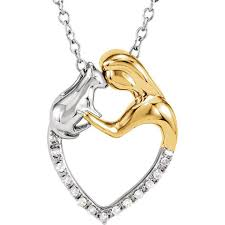 mothers day jewlery sterling silver 06 ctw diamond cat heart 18 necklace