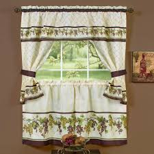 Tuscan Kitchen Canisters by Tuscany Grape Kitchen Window Tier And Valance Set