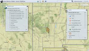 New Mexico County Map by New Mexico Watch U2013 Active Wildfire Mapping Site Earth Data