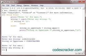 python program to convert lowercase to uppercase