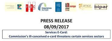 eu services e card joint press release fiec