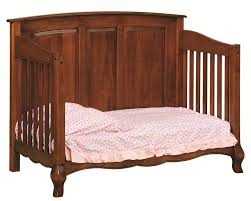 Cribs That Convert To Toddler Bed by Amish Baby Crib Solid Wood Nursery Furniture Conversion Toddler
