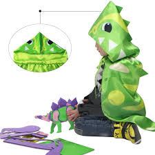 Toddler Dinosaur Costume Kids Hooded Cape Children Dinosaur Costume For Activity