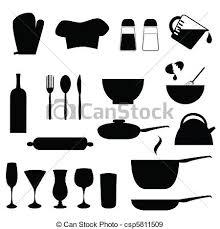 dessin ustensile de cuisine ustensiles cuisine ustensiles divers silhouette cuisine