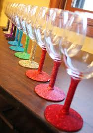 Wine Glass Decorating Ideas Diy New Year Eve Party Ideas 2015