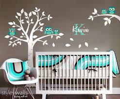 Nursery Room Tree Wall Decals Owl Wall Decal Owls Tree Wall Decal Nursery Wall Sticker