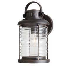 Allen And Roth Blinds Shop Allen Roth Stonecroft 14 86 In H Rust Outdoor Wall Light At
