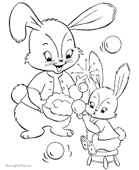 easter bunny coloring pages 009