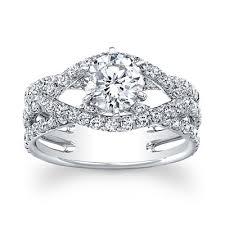 swirl engagement rings luminous swirl set forever brilliant moissanite engagement ring
