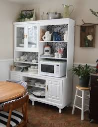 Kitchen Furniture Hutch Remodelaholic Create A Kitchen Hutch From An 80 S Wall Unit Small