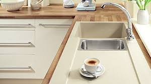 Wickes Belfast  Bowl Kitchen Sink Ceramic White Modern Kitchen - Ceramic kitchen sinks uk