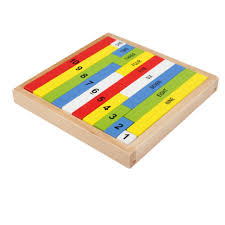 montessori wooden color number rods jolly b kids