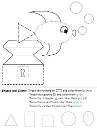 shape recognition worksheet mixed shapes