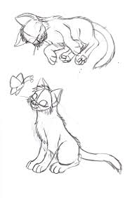 kitten pose sketch cats know they were worshiped as gods