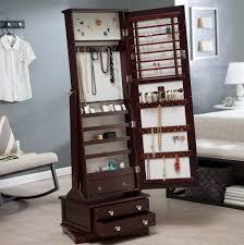 jewelry armoire with mirror home design ideas