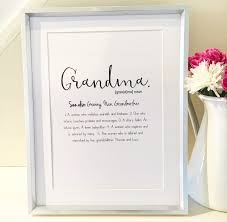 mothers day gift for nanny definition print for mothers day custom gift