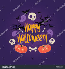 halloween background skulls day dead colorful vector card halloween stock vector 501749638