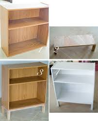 Cheap Sturdy Bookshelves by Refurbishing A Cheap Bookcase