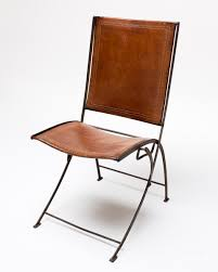Vintage Leather Chairs Ch003 Vintage Leather Folding Chair Acme Studio
