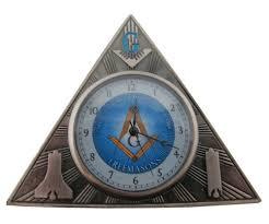 desk clock freemason gift mini triangle desk clock masonic symbolism on