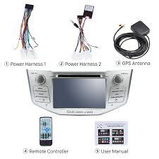 lexus rx400h dash pure quad core android 5 1 1 in dash dvd gps system for 2004 2010