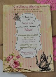 turtlecraftygirl high tea baby shower invitations