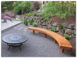curved wooden bench for garden and patio home u0026 decor