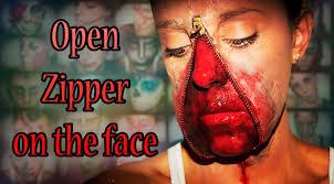 halloween fx makeup open zipper face silvia quiros youtube