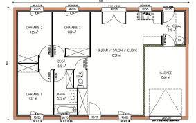 plan de maison 3 chambres salon plan et photos maison 3 chambres de 76 m