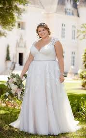 large size wedding dresses lace plus size wedding dress with cameo back stella york