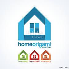 home design logo free home logo home origami logo design stock image and royalty free