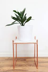 a bubbly lifediy copper pipe marble plant stand a bubbly life