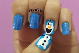 the best of disney u0027s frozen nail art 25