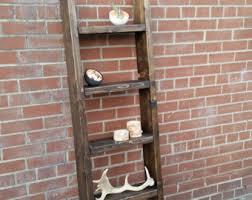 Free Standing Ladder Shelf Plans by Ladder Shelf Etsy
