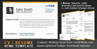 resume html template 10 beautiful resume html templates