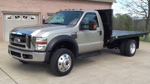 hd video 2008 ford f550 xlt 4x4 6 speed flat bed used truck diesel