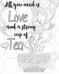 coloring pages for adults inspirational adult inspirational coloring page printable 08 a cup of tea from