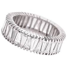 baguette diamond band 1960s tapered baguette diamond platinum eternity band ring at 1stdibs