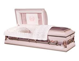 how much is a casket pink finish with light pink interior overnight caskets