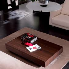 contemporary coffee table wooden metal natural stone box