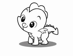 pony spike coloring pages getcoloringpages