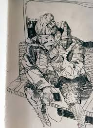 the ride home sketches on the subway new york city urban sketchers