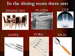 Parts Of Houses And Furniture - Dining room names