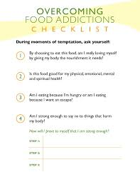 overcoming food additions worksheet
