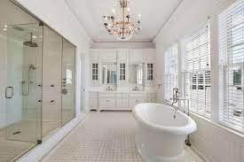 beveled subway tile white shower bathroom benefits from white