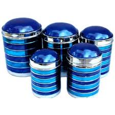 blue kitchen canister sets blue kitchen canisters jars you ll wayfair