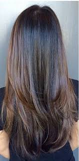 what are underneath layer in haircust straight long chocolate brown hair with heavy bottom layering