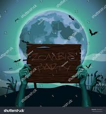 halloween zombie background halloween hands zombie holding hold old stock vector 490559401