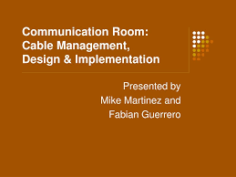 ppt communication room cable management design
